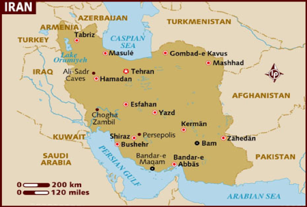 geographical situation of Iran