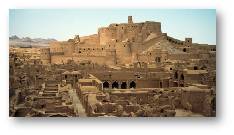 Tower and the fort of Bam in the province of Kerman