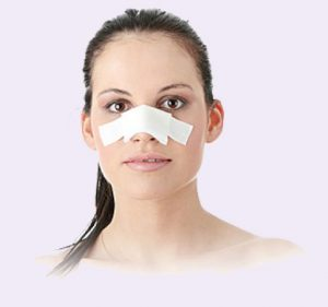 Girl after nose job in Istanbul